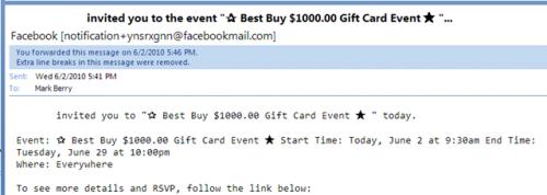 Facebook Scam 1