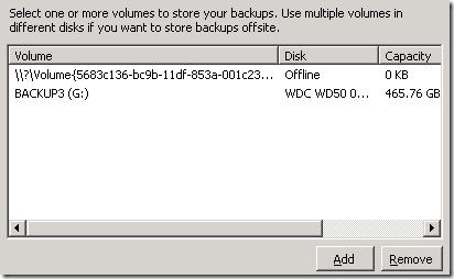 Backup Swap Target Drive 1