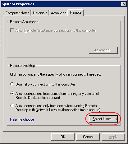 remote desktop and local administrator rights Cannot establish remote desktop connection using non-administrator accountby default windows xp and windows 7 allow the users.