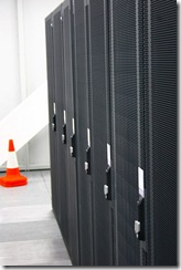Computers in a datacenter, courtesy Docklandsboy, Creative Commons Attribution 2.0 Generic License