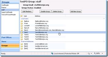MailEnableAdmin Groups