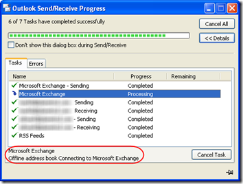 Outlook Does Not Finish Send and Receive of OAB | MCB Systems