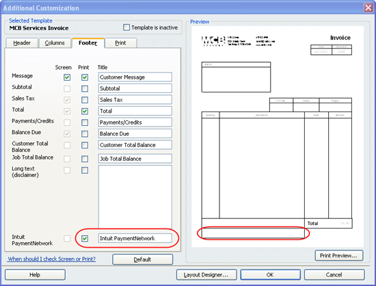 invoices reformatted by quickbooks 2010 r11 patch | mcb systems, Invoice templates
