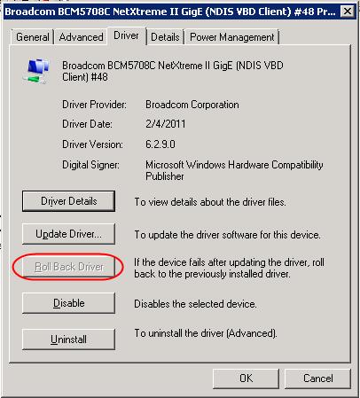 Broadcom bcm5708c netxtreme ii gige driver.