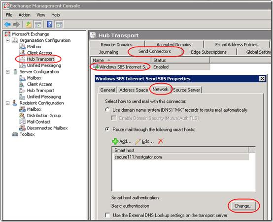 Send Mail from SBS 2008 When Port 25 Blocked | MCB Systems