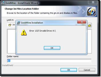 GoldMine Install Error 3