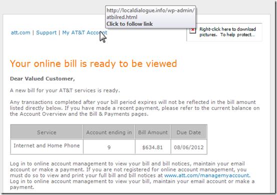 Phony AT&T Bill 1