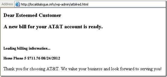 Phony AT&T Bill 2