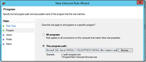 SQL Express Firewall 1