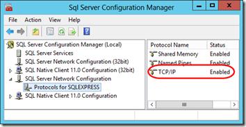 SQL Express Network Protocols