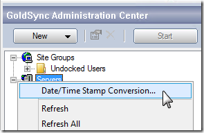 GoldMine Sync Stamp Conversion 1