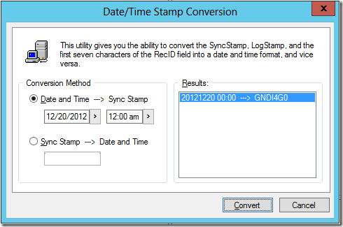GoldMine Sync Stamp Conversion 2