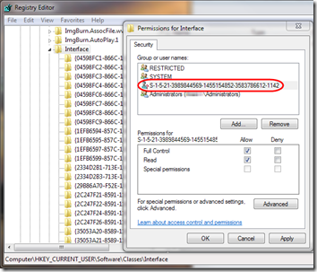 Registry permissions after domain change 2