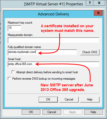 Office 365 SMTP Relay: What KB2600912 Doesn't Tell You | MCB