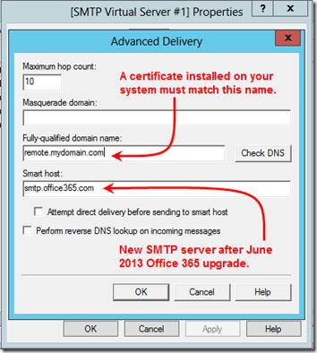 O365 SMTP Relay 1