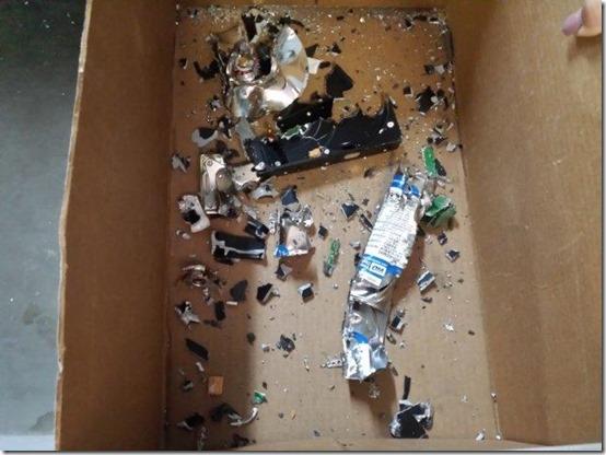 2013.12.12.Hard drive after shredding