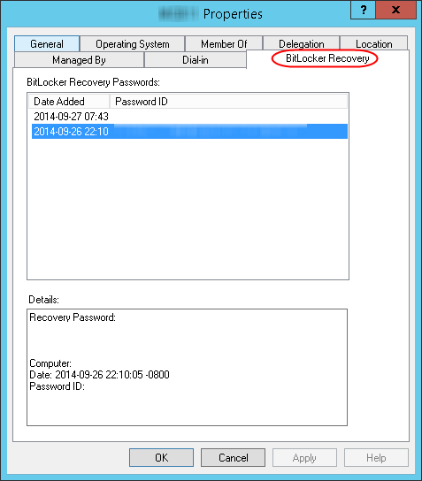 Save BitLocker Keys in Active Directory | MCB Systems