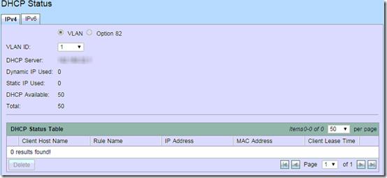 RV320 no DHCP Status