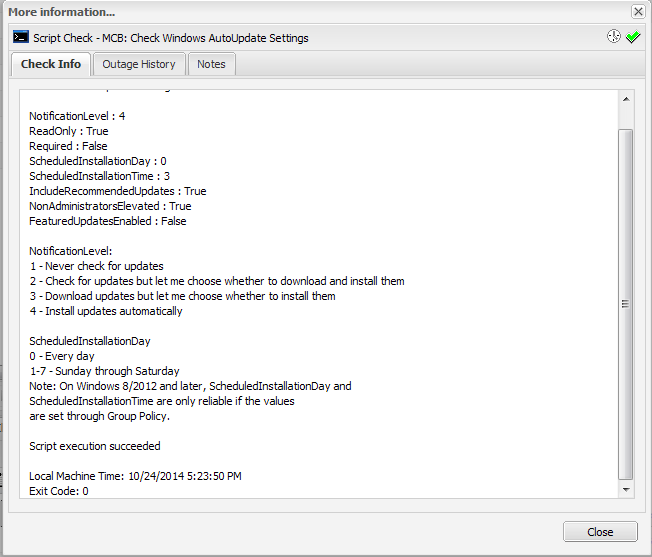 GFI Script to Show Windows Update Settings | MCB Systems
