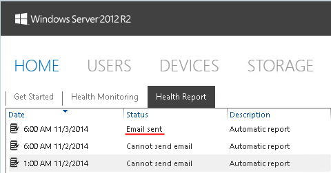 Can't Email Essentials Health Report Since Daylight Savings