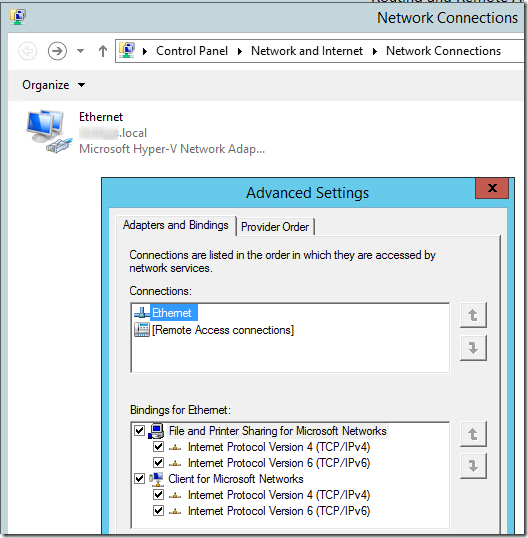 SBC server network adapter order 1