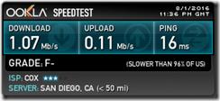 Cox speedtest 3