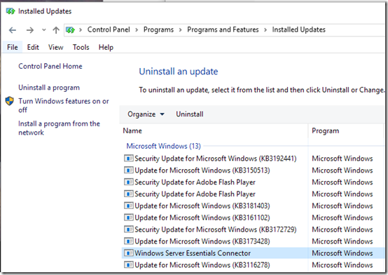 Update Essentials Connector before Upgrading Windows 10 | MCB Systems