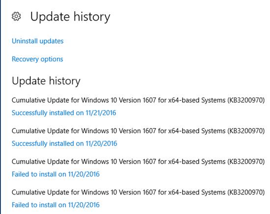 Re-install cumulative update