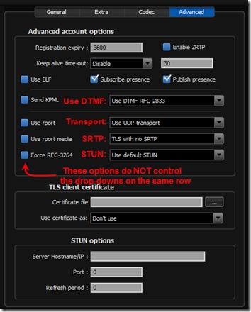 Zoiper User Interface 1