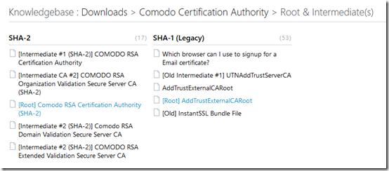 Comodo certificates 1