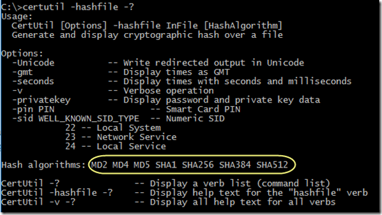 Use Certutil to Get File Hash | MCB Systems