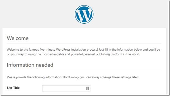 WordPress re-install 1