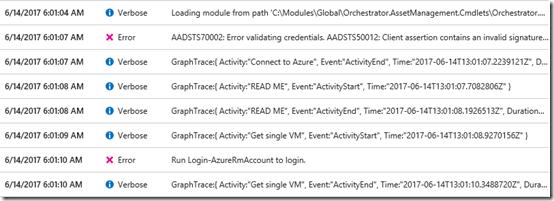 Azure Automation failure 3