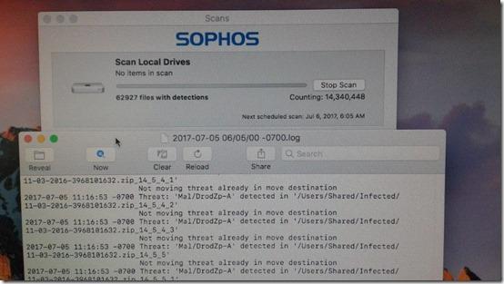 Sophos on Mac infinite loop