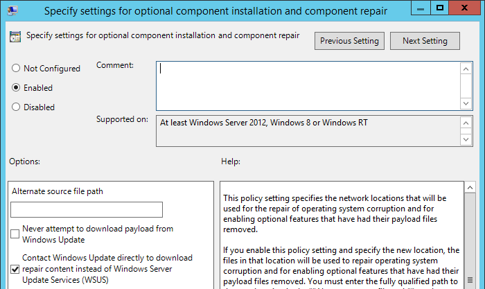 DISM Fails with 0x800F0906 if WSUS Is Installed | MCB Systems