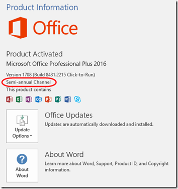 Office C2R Updates 5