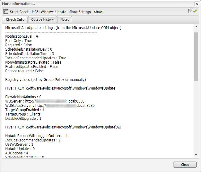 check windows update registry