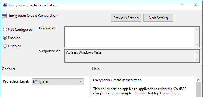 Updating the CredSSP Group Policy   MCB Systems