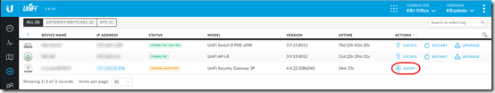 Adopt a UniFi USG Router to a Remote Controller | MCB Systems