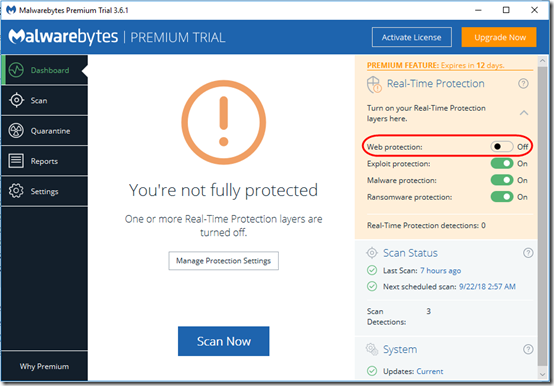 Malwarebytes Premium Trial Blocks MSP Anywhere | MCB Systems