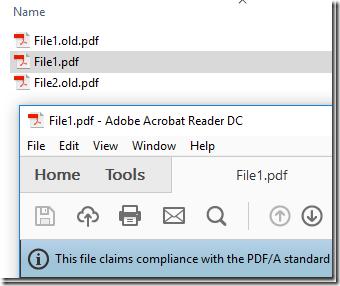 Batch Convert PDFA 9