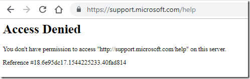 Microsoft Support Sites Report Access Denied in Chrome   MCB