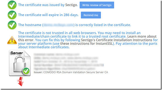 Firefox and Intermediate Certificates | MCB Systems