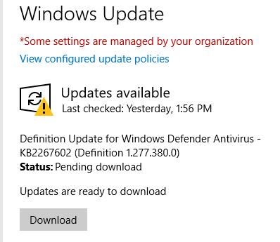 Multiple Windows 10 machines stuck downloading updates,