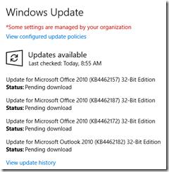 Windows Update transient error 3