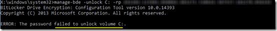 KB4505821 Bitlocker Error 05