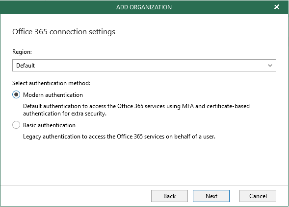 Veeam O365 Modern Auth Requires Legacy Auth | MCB Systems