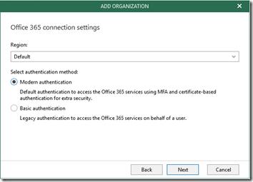 Veeam O365 Backup Setup 2