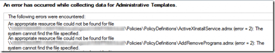 Group Policy Admin Templates