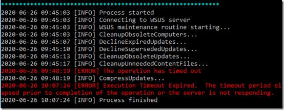 WSUS maintenance 3